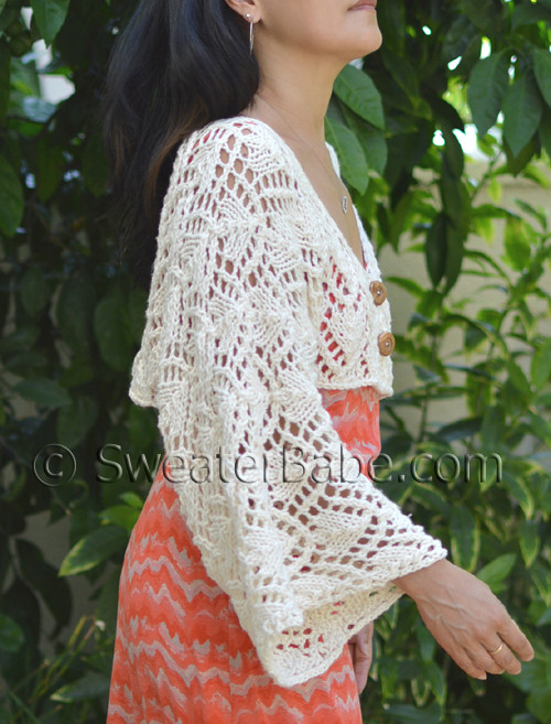 Pdf Knitting Pattern For Kimono Cropped Cardigan From Sweaterbabe
