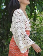 kimono cropped cardi knitting pattern