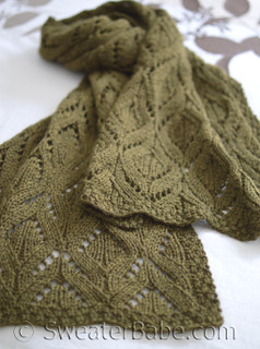 marquise stole/scarf knitting pattern (stole size shown here)
