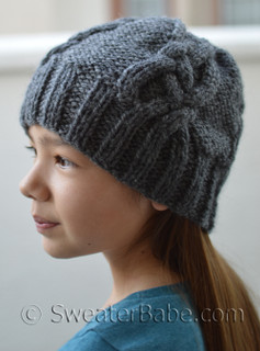 double chunk cabled hat knitting pattern