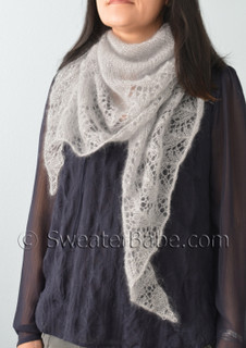 glitz and glam pdf knitting pattern worn as a scarf