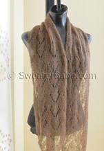 adina one-ball scarf knitting pattern