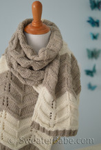 #238 Navajo Loop Stole PDF Knitting Pattern