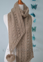 bias ribbon scarf pdf knitting pattern