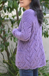 lavender open front lace cardigan knitting pattern