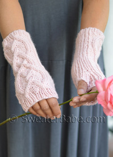 Riley Fingerless Gloves (longer length)