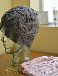 Riley cabled hat knitting pattern