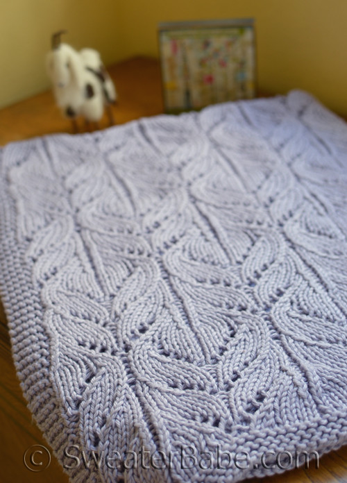 Pdf Knitting Pattern For Wild Iris Blanket From Sweaterbabe