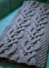 riley cabled cashmere scarf knitting pattern