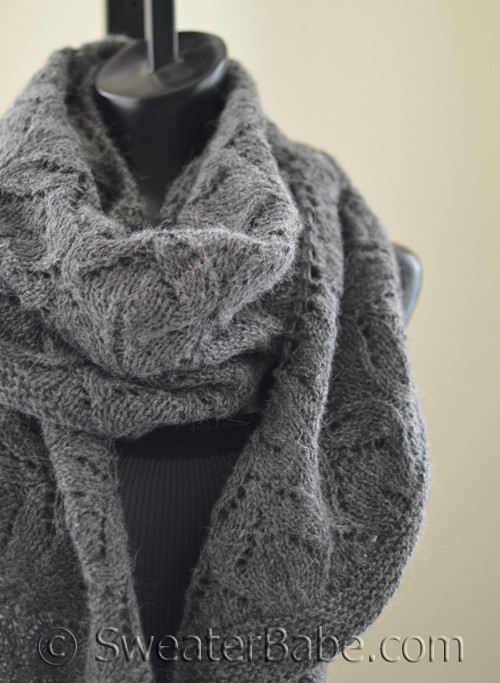 Pdf Knitting Pattern For Fleur Crescent Shawl From Sweaterbabe