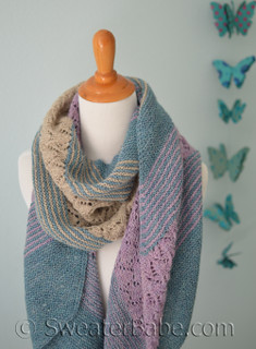 linen and lace shawl knitting pattern