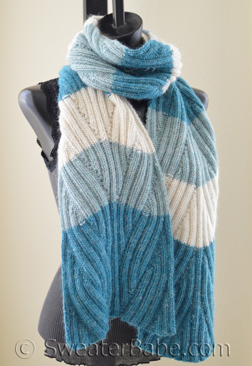 Pdf Knitting Pattern For Laguna Ribbed Scarf From Sweaterbabe Com