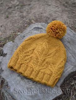 knitting is beleafing hat pattern
