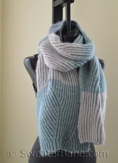 Monterey Brioche Scarf knitting pattern
