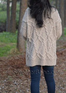 big cable cardigan pdf knitting pattern