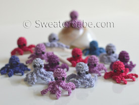 crochet mini octopuses