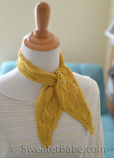 mini scarf pdf knitting pattern
