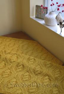 diamond cable blanket pdf knitting pattern