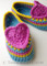 heart and sole crochet slippers pdf crochet pattern