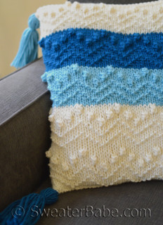 bits and bobs pillow knitting pattern
