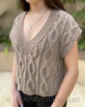 Megan Vest pdf knitting pattern
