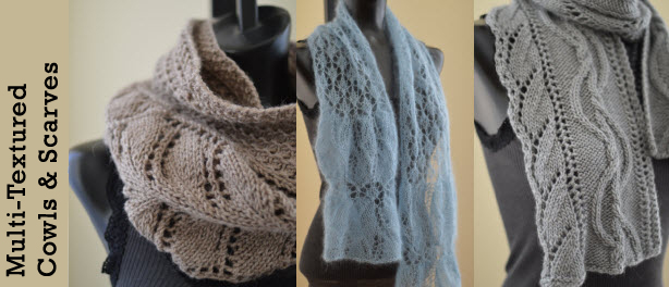 Multi-Textured Cowl and Scarf Patterns