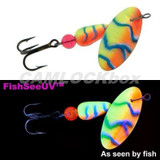 Panther Martin Teardrop Spinner - FishSeeUV Chartreuse/Orange/Blue (PMUV-COB)
