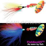 Panther Martin Teardrop Spinner - FishSeeUV Marabou (PMUVM-COB)