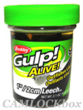 "Berkley Gulp! Alive!® 1"" / 2cm Leech - Black"