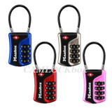 Master Lock TSA-Accepted Luggage Lock/Flexible Shackle (Resettable Numeric Combination 4697D)