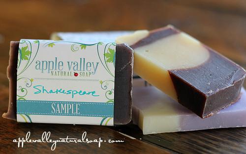 Literary Edition Body Bar Samples - Apple Valley Natural Soap