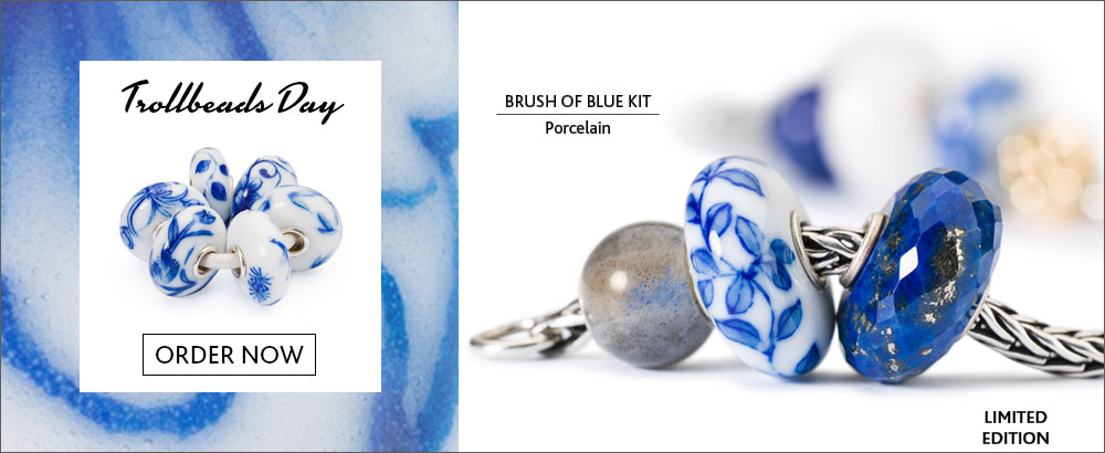 Trollbeads Day Bead Brush of Blue