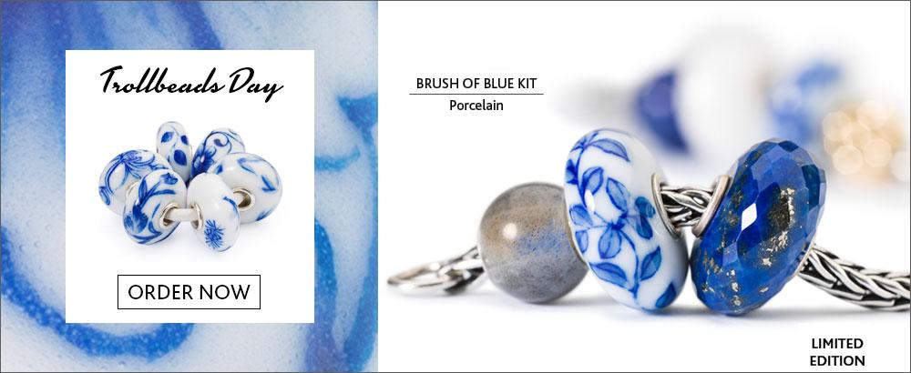 Trollbeads Day Bead Brush of Blue