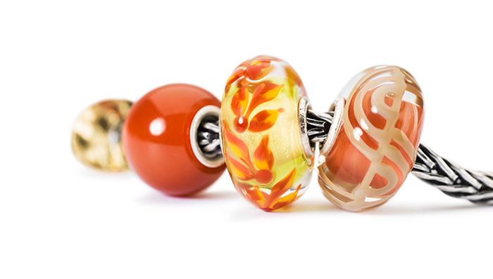 Trollbeads Glass Beads Orange
