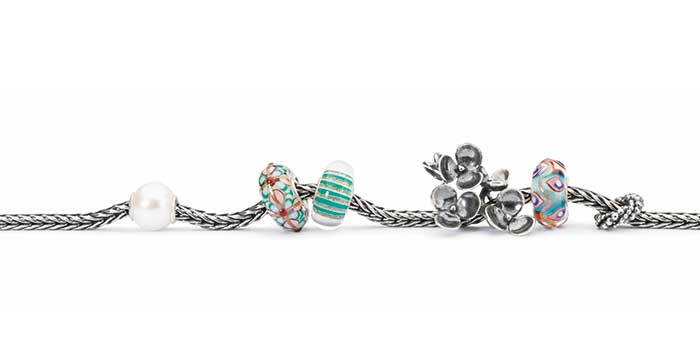 Trollbeads Bracelet with Glass, Silver, and a Small Accent