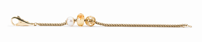 Trollbeads Gold Bracelet With Pearl
