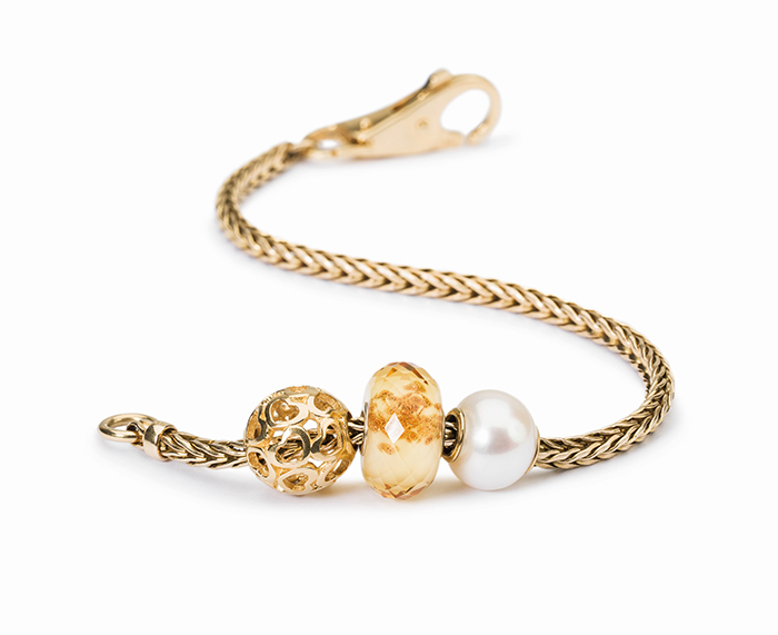 Trollbeads Gold Bracelet with Gold Bead