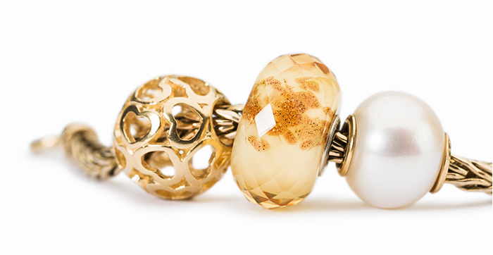 Trollbeads Gold and Pearl Bracelet