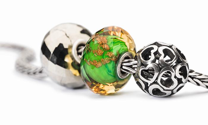 Trollbeads Green Twinkle Glass Bead