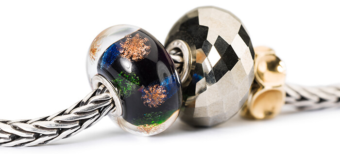 Trollbeads Happy New Year Bead with Pyrite