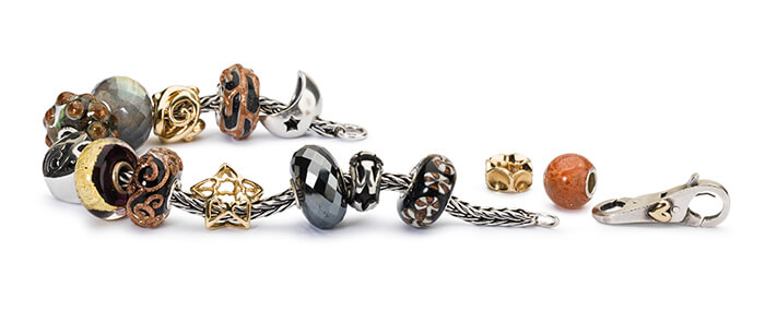 Trollbeads Bracelet with Gold and Glass Beads