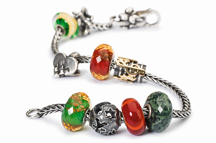 Trollbeads Red and Green Bracelet