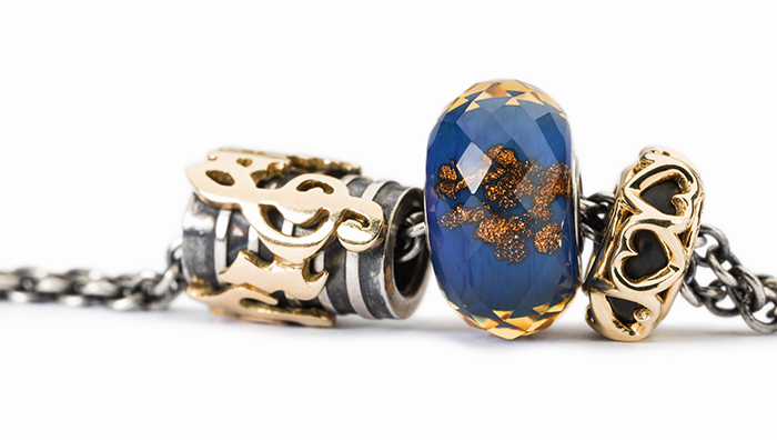 Trollbeads Bracelet with Silver and Gold Charms