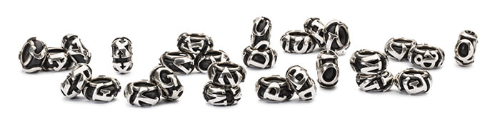 Trollbeads Alphabet Spacers