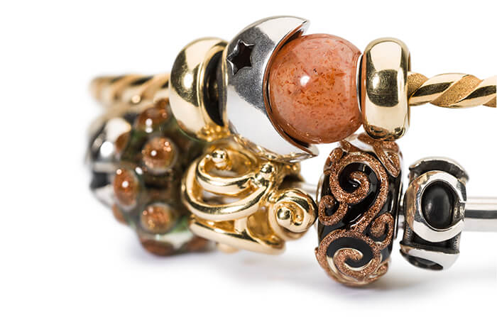 Trollbeads Bangle Stack with Gold