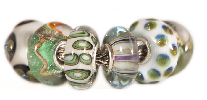 Universal Unique Trollbeads OOAK Glass Beads