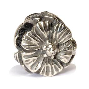 Trollbeads Silver Charm Fantasy Rose