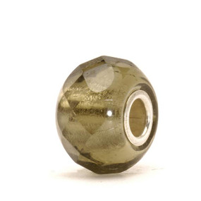 Trollbeads Grey Prism Glass Bead