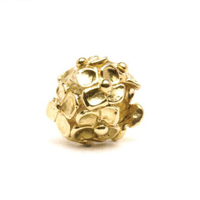 Trollbeads Gold Charm Hydrangea
