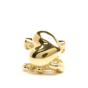 Trollbeads Gold Charm Faith, Hope, and Charity